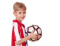 Boy with football Stock Images