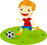 A boy with a football Stock Photo