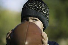 Boy with a Football Stock Photos