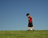 Boy with football Stock Photos