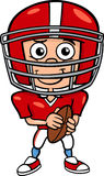Boy football player cartoon illustration Stock Image