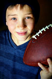 Boy with Football royalty free stock photos