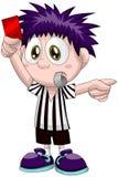 Boy football referee character cartoon style  illustration Stock Photography