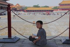 Boy at the Forbidden City Royalty Free Stock Image