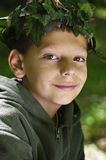 Boy in the forest Royalty Free Stock Images