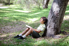 Boy in the forest series Royalty Free Stock Photos