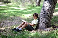 Boy in the forest series Royalty Free Stock Image