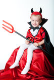 The boy in the form of imp Royalty Free Stock Photo