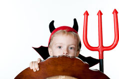 The boy in the form of imp Stock Images
