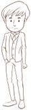 A boy in a formal attire Stock Photo