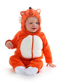 Boy in fox costume Stock Image