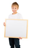 Boy and a Frame with Copyspace Stock Photography