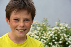 Boy with freckles Stock Photography