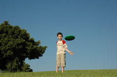 Boy with frisbee Royalty Free Stock Image