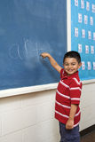 Boy in front of Blackboard Stock Image