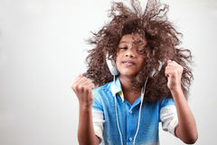 A boy with a funky hairstyle Royalty Free Stock Images