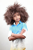 A boy with a funky hairstyle Royalty Free Stock Photos