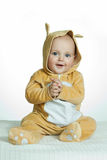 Boy in funny deer costume Stock Photos