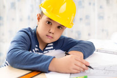 A boy future engineer Royalty Free Stock Photos