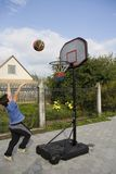 Boy game of basketball. Active boy game of basketball stock images
