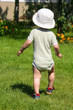 Boy in garden Stock Images