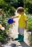Boy in garden Royalty Free Stock Photo