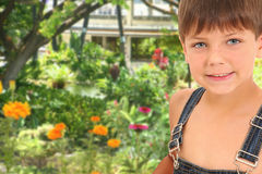 Boy in Garden Royalty Free Stock Photography