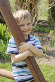Boy in garden Stock Photo