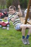 Boy in garden Royalty Free Stock Photos