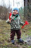 A boy in the garden Royalty Free Stock Photography