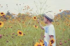 Boy in garden Stock Photos