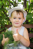 Boy in the garden Stock Photography