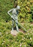 Boy Gardener bronze statue in the Chicago Botanic Garden, USA Stock Photo