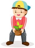 Boy gardening Royalty Free Stock Images