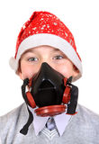 Boy in Gas Mask Royalty Free Stock Images