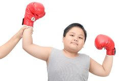 Boy gesturing for first place victory triumph isolated stock photography