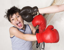 Boy getting punched Royalty Free Stock Photos