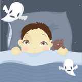 Boy and ghosts Stock Photo