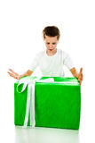 Boy with gift Stock Image