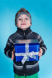 Boy with gift Royalty Free Stock Images