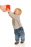 Boy with gift box Stock Photography