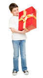 Boy with gift box Stock Photo