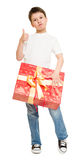Boy with gift box Royalty Free Stock Photos