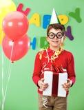 Boy with giftbox Stock Photo