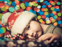 Boy with gifts Royalty Free Stock Images