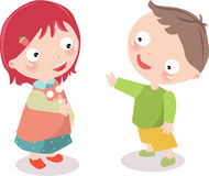 Boy and the girl vector illustration
