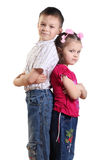 Boy and girl Stock Image