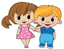 Boy and girl. Illustration of a boy and girl Stock Photo