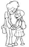 Boy and girl. Shy boy and shy girl vector illustration