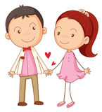 A boy and a girl Stock Image